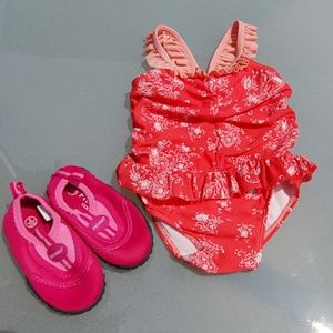 Baby Gap Swimsuite and Fresko water shoes.